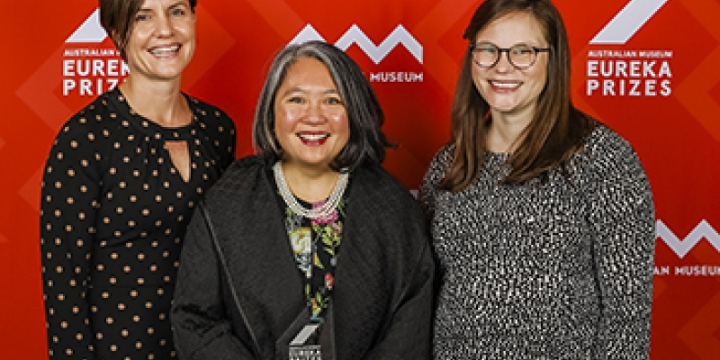L-R (L-R) Associate Professor Leanne Robinson, Associate Professor Wai-Hong Tham and Dr Rhea Longley.