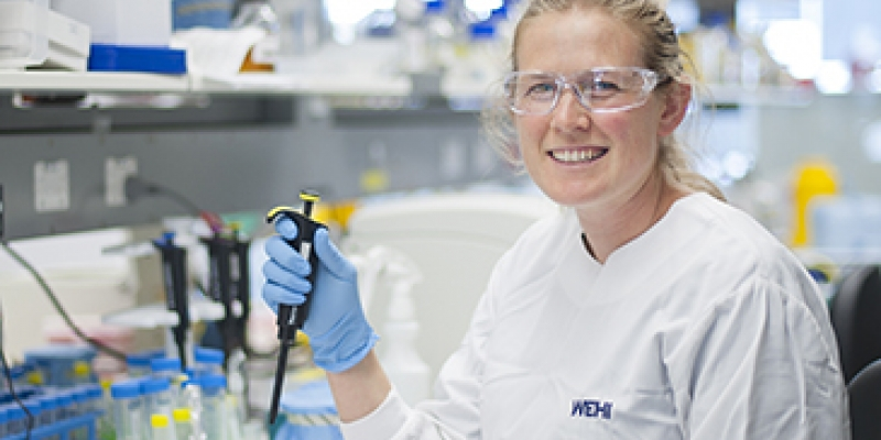 Dr Kirsten Fairfax in the laboratory