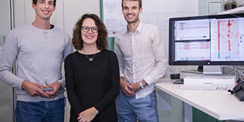 Dr Quentin Gouil, Associate Professor Marnie Blewitt  and Associate Professor Matt Ritchie.