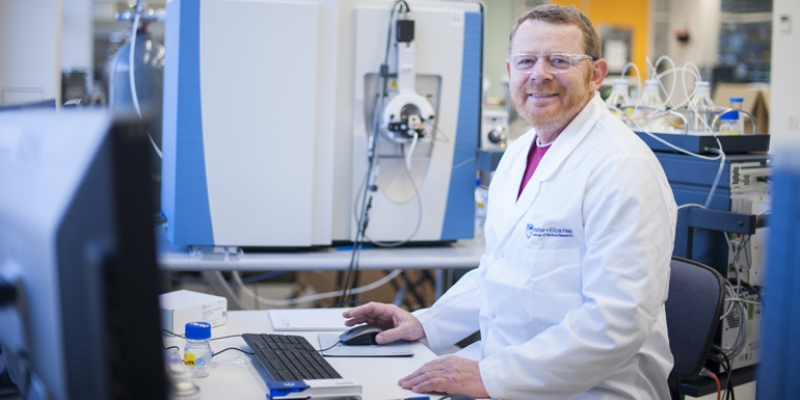 Professor Liam O'Connor in the lab
