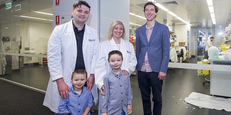Mel Bowyer and family with Dr Seth Masters