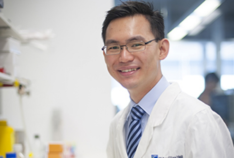 Dr Edward Chew in the lab