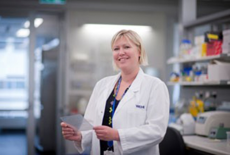 Dr Emma Josefsson in the lab