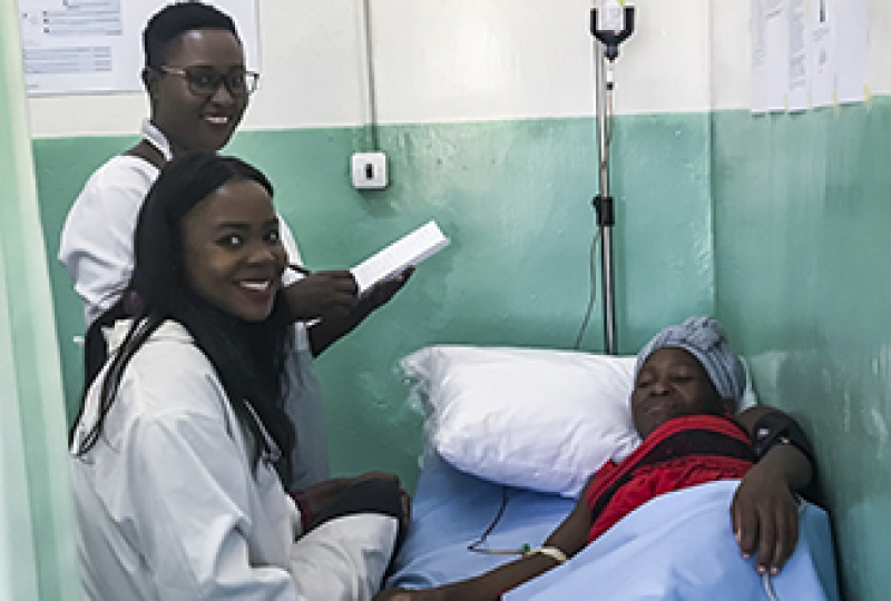 Woman receives intravenous iron as part of new Malawi IV trial