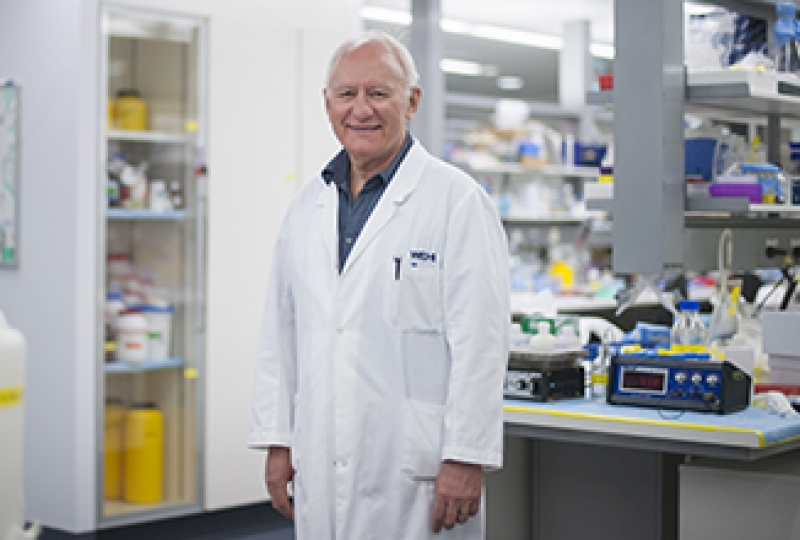 Professor Len Harrison in laboratory