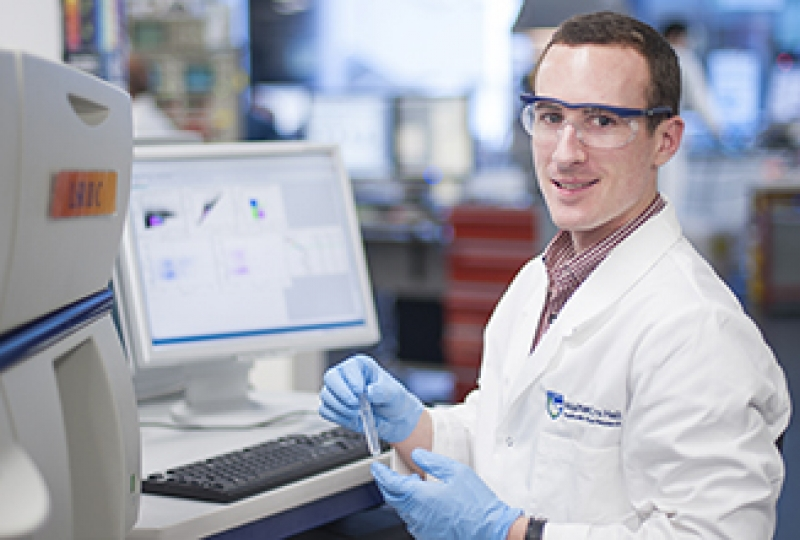 Dr Michael White in a laboratory