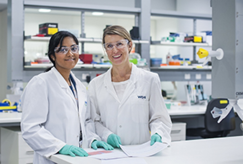 Female researchers in a laboratory