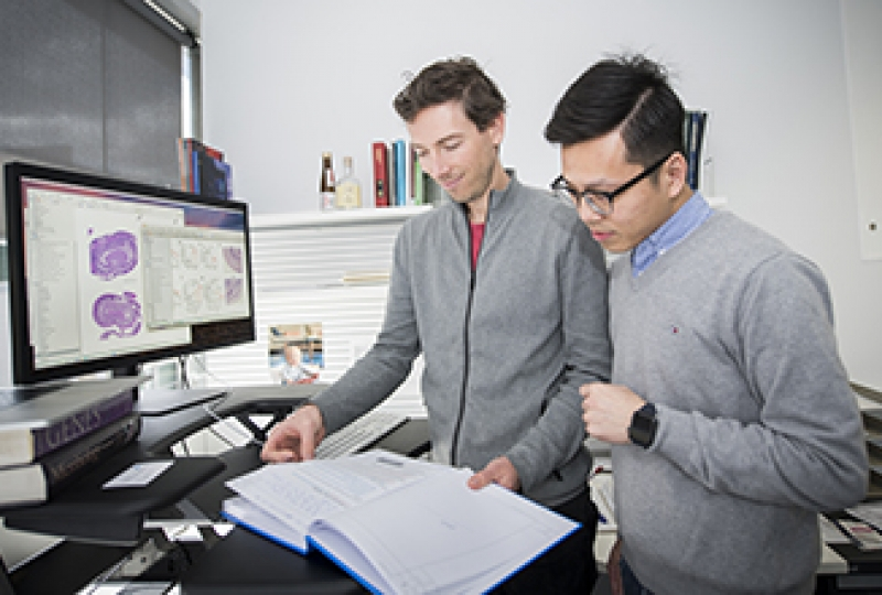 Associate Professor Seth Masters and Dr Alan Yu in the office
