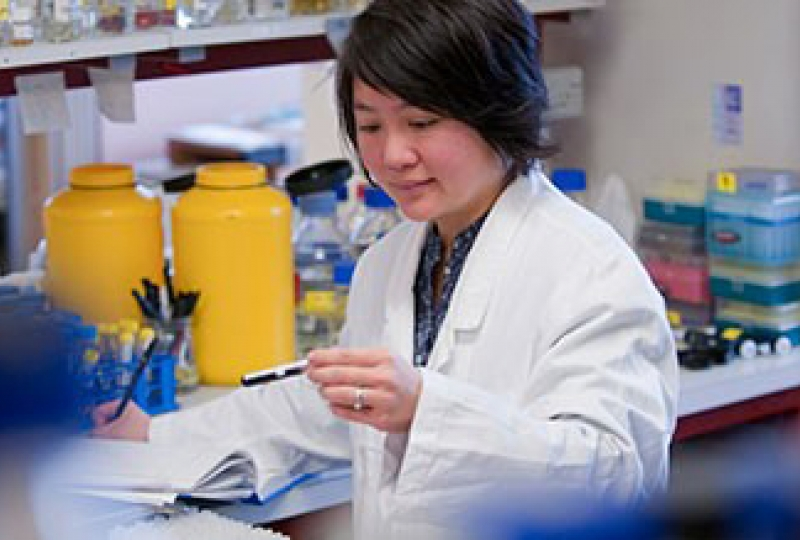 Dr Wai-Hong Tham in the lab