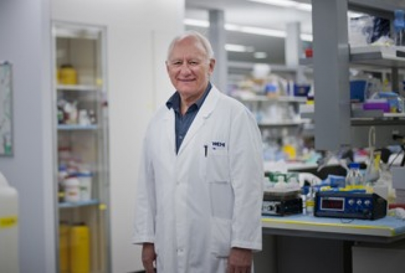 Professor Len Harrison in a lab