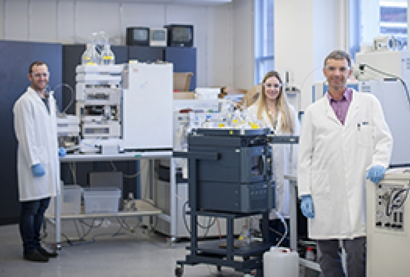 Scientists in a proteomics laboratory