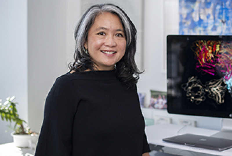 A/Prof Wai-Hong Tham photographed in her office