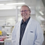 Professor Jerry Adams outside the lab