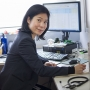 Associate Professor Jeanne Tie at her desk