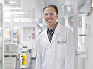Dr Axel Kallies in a lab