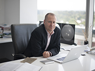 Doug Hilton in his office
