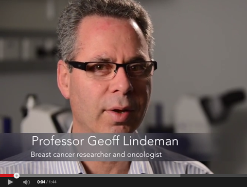 Professor Geoff Lindeman being interviewed