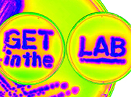 'Get in the Lab' student recruitment message