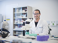 Dr Jason Brouwer in a laboratory