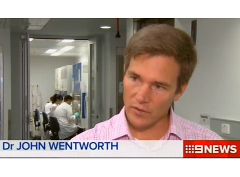Dr John Wentworth interviewed on 9News