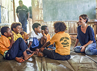 Dr Leanne Robinson in Papua New Guinea