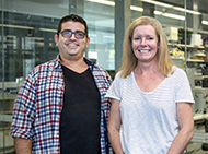 Dr Samir Taoudi and Dr Alison Farley at the Institute