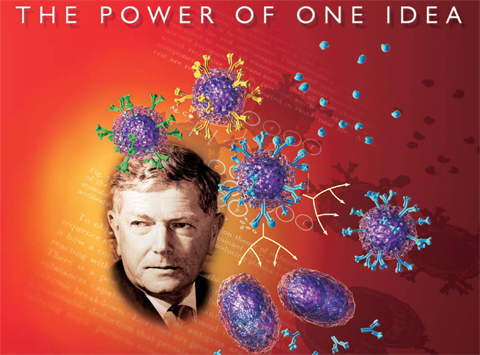 The power of one idea, book cover