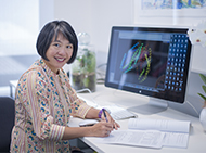 Dr Wai-Hong Tham in her office