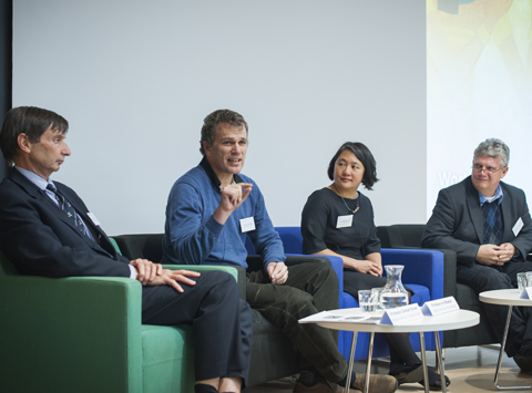 Q&A session at World Malaria Day 2014 public lecture