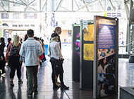 Visitors at Art of Science exhbition
