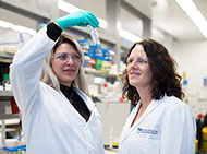 Two female scientists in a laboratory