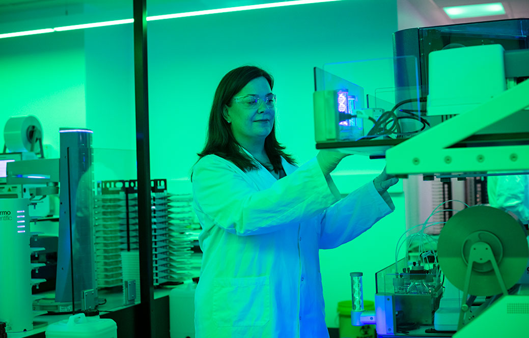 Scientist in the National Drug Discovery Centre